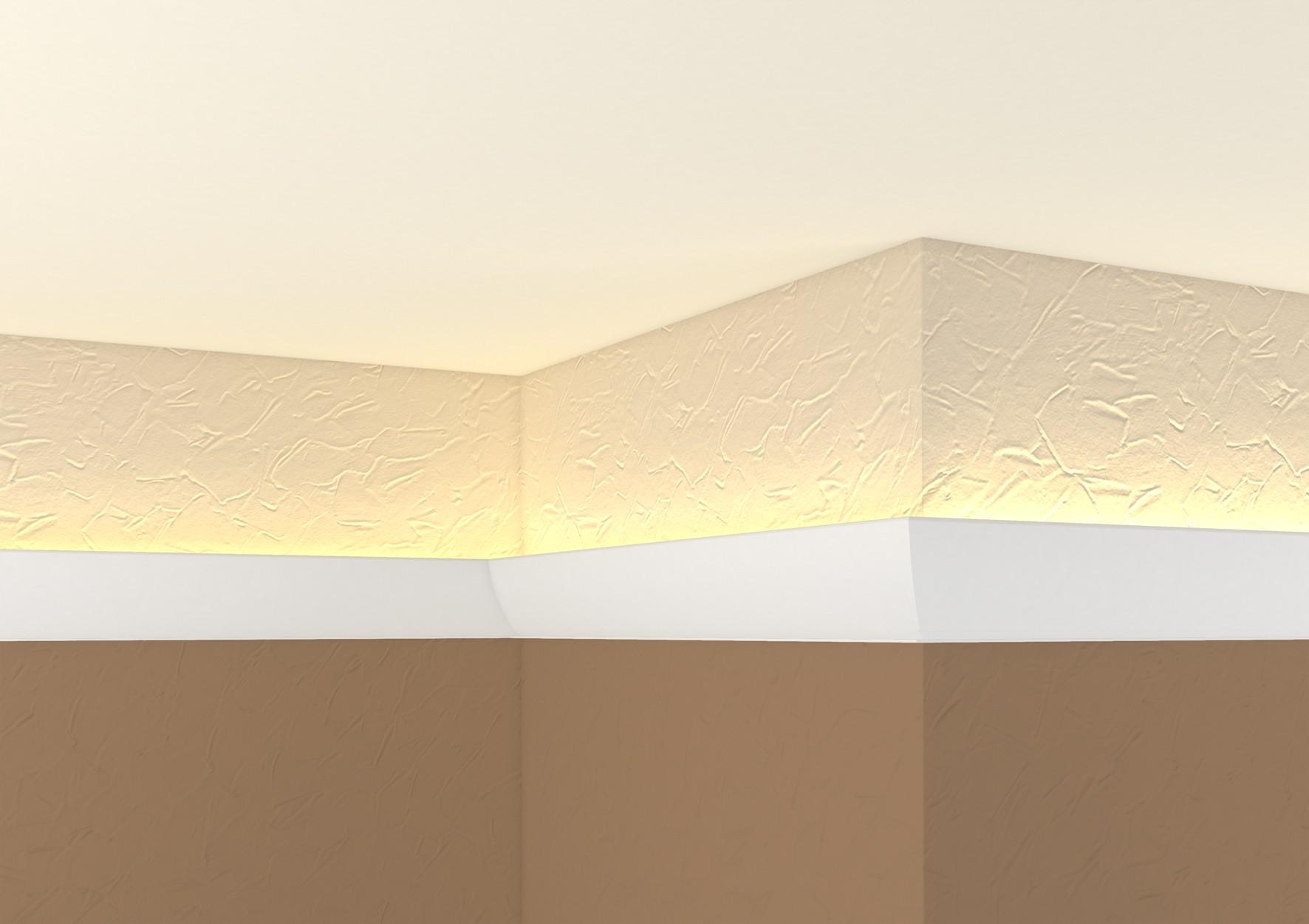 Corniche Polystyrène Pour Led moulures pour ruban l.e.d g 35, 2 mètres - decorer-isoler.fr